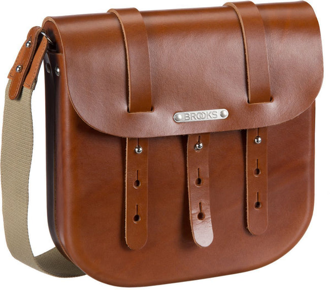 Brooks B3 Leather Bicycle Messenger Bag-Bicycle Panniers-Brooks England-Voltaire Cycles of Verona