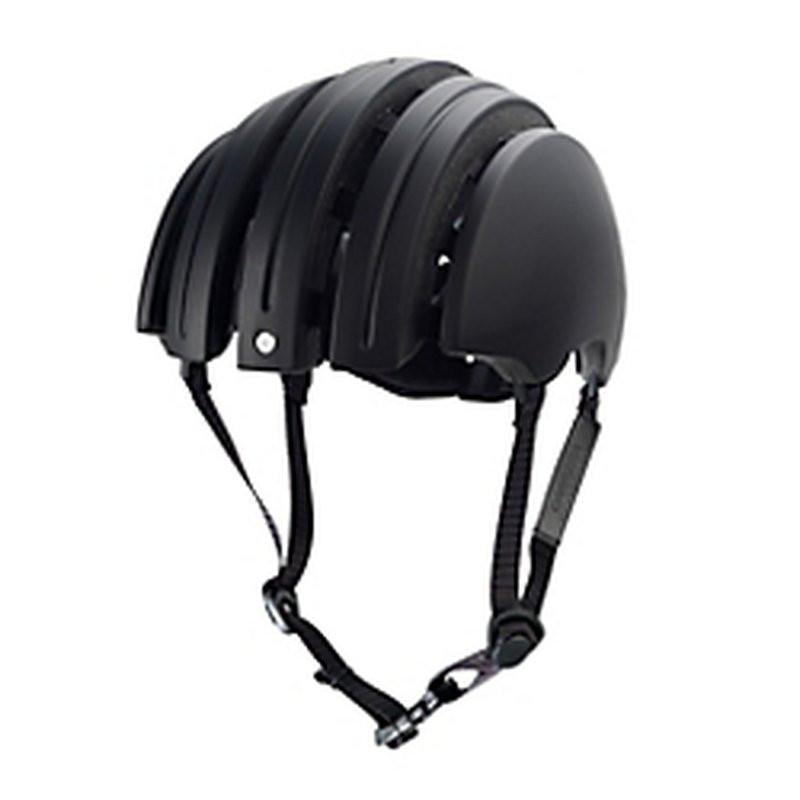 Brooks Carrera Foldable Bicycle Helmet - Black-Helmets-Brooks England-Voltaire Cycles of Verona