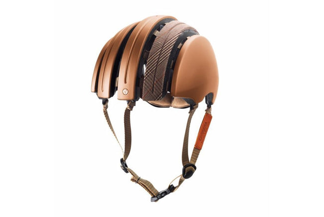 Brooks Carrera Foldable Bicycle Helmet - Copper/Brown-Helmets-Brooks England-Voltaire Cycles of Verona