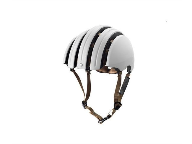 Brooks Carrera Foldable Bicycle Helmet - White-Helmets-Brooks England-Small/Medium-Voltaire Cycles of Verona