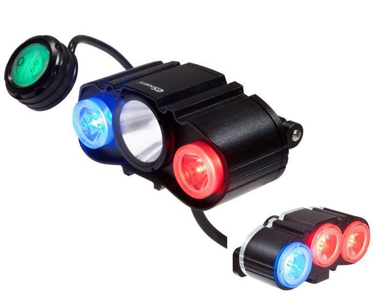 C3Sports MaxPatrol-600 DLX Combo Police Bike Light Set - Front & Rear-Police Accessories-C3Sports-Voltaire Cycles of Verona