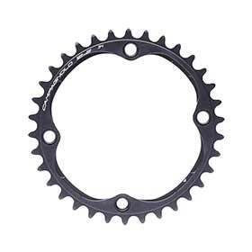 Campagnolo Record/Super Record 12 Chainring Teeth: 34 Speed: 12 Bcd: 112 Bolts: 4 Inner Aluminum Black-Chainrings-Campagnolo-Voltaire Cycles of Verona