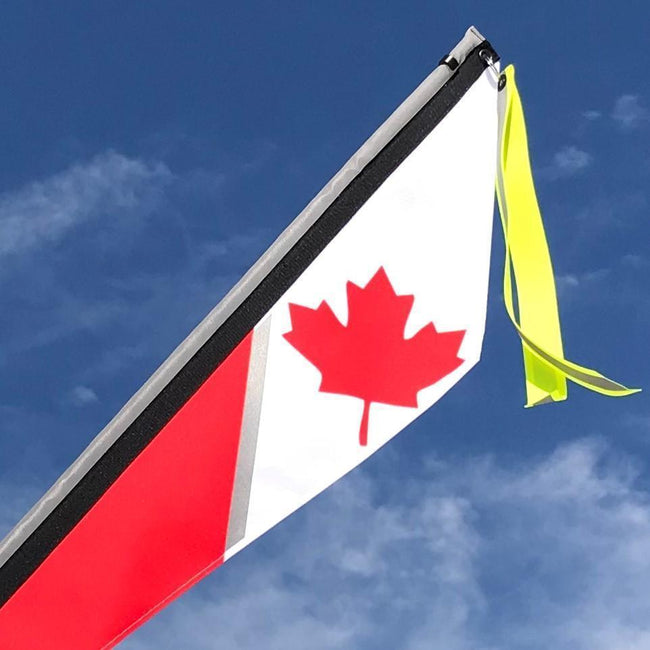 Canadian Flag for Recumbent or Electric Bicycle-Bicycle Flags-TerraCycle-Voltaire Cycles of Verona