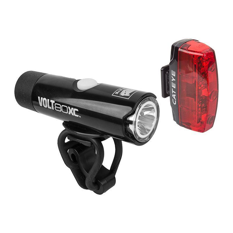 CatEye Volt 80 Rapid Micro Combo Bicycle Lights-Bicycle Lights-Cateye-Voltaire Cycles of Verona