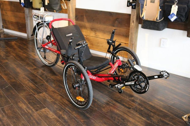 Catrike 5.5.9 Recumbent Trike - FLOOR MODEL-Recumbent Trikes-Catrike-Lave Red-Standard-Voltaire Cycles of Verona