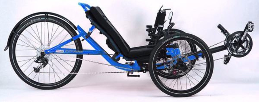 Catrike 5.5.9 Recumbent Trike-Recumbent Trikes-Catrike-Electric Blue-Standard-Voltaire Cycles of Verona