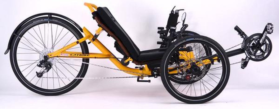 Catrike 5.5.9 Recumbent Trike-Recumbent Trikes-Catrike-Firefly Yellow-Standard-Voltaire Cycles of Verona