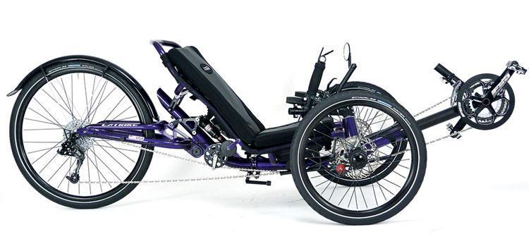 Catrike Dumont Full Suspension Trike-Recumbent Trikes-Catrike-Candy Purple-Standard-Voltaire Cycles of Verona