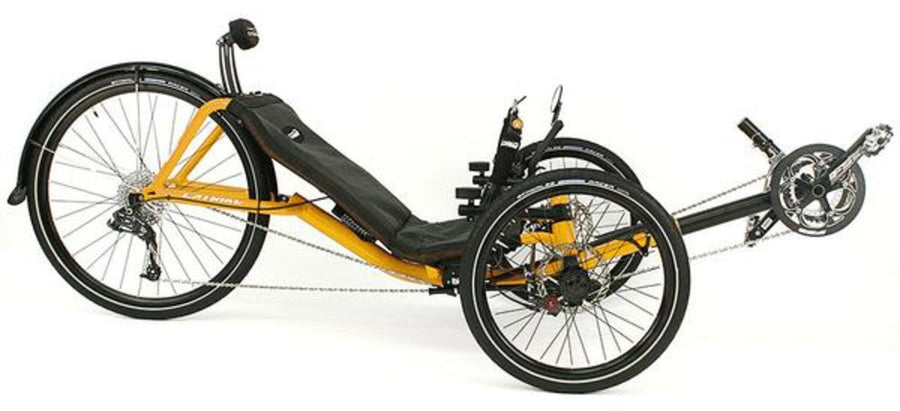 Catrike Expedition-Recumbent Trikes-Catrike-Firefly Yellow-Standard-Voltaire Cycles of Verona