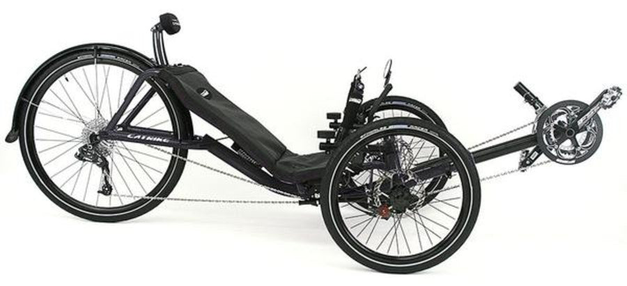 Catrike Expedition-Recumbent Trikes-Catrike-Liquid Black-Standard-Voltaire Cycles of Verona