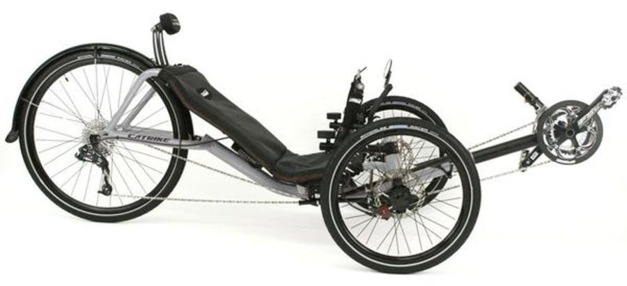 Catrike Expedition-Recumbent Trikes-Catrike-Moon Rock Silver-Standard-Voltaire Cycles of Verona