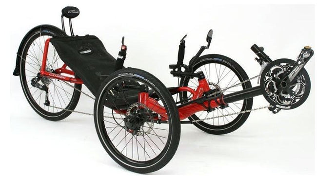 Catrike Expedition-Recumbent Trikes-Catrike-Atomic Orange-Standard-Voltaire Cycles of Verona