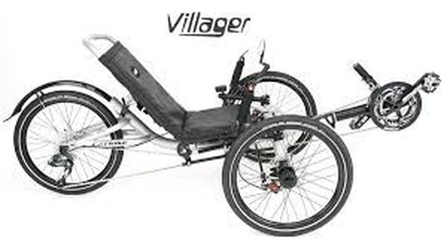 Catrike Villager-Recumbent Trikes-Catrike-Electric Blue-Standard-Voltaire Cycles of Verona