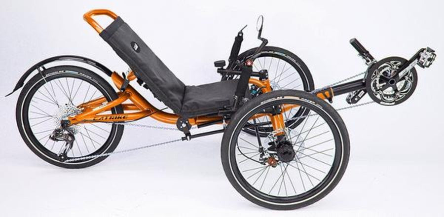 Catrike Villager-Recumbent Trikes-Catrike-Atomic Orange-Standard-Voltaire Cycles of Verona