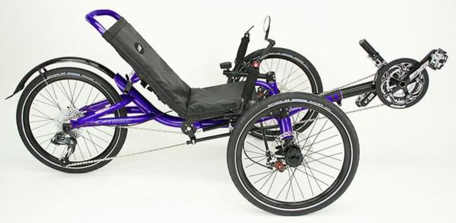 Catrike Villager-Recumbent Trikes-Catrike-Candy Purple-Standard-Voltaire Cycles of Verona