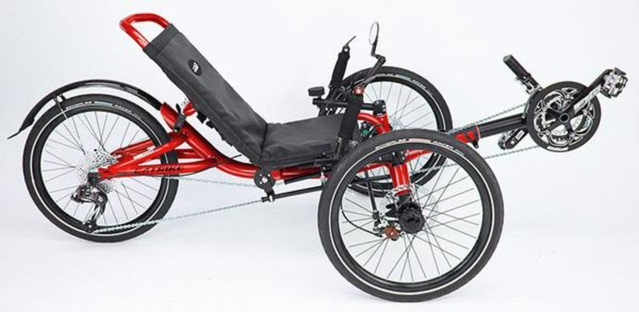 Catrike Villager-Recumbent Trikes-Catrike-Lava Red-Standard-Voltaire Cycles of Verona