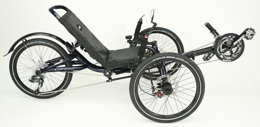 Catrike Villager-Recumbent Trikes-Catrike-Liquid Black-Standard-Voltaire Cycles of Verona