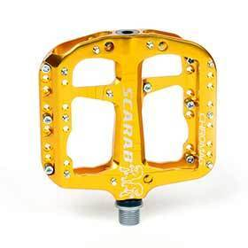 Chromag Scarab Platform Pedals Bushing And Sealed Bearings Aluminium Body Gold-Pedals-Chromag-Voltaire Cycles of Verona