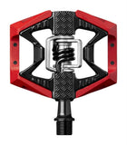 Crankbrothers Doubleshot 3 Bike Pedals-Bicycle Pedals-CrankBrothers-Red & Black / Black Springs-Voltaire Cycles of Verona