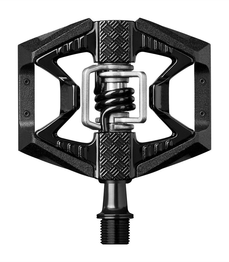 Crankbrothers Doubleshot 3 Bike Pedals-Bicycle Pedals-CrankBrothers-Black & Black / Black Springs-Voltaire Cycles of Verona