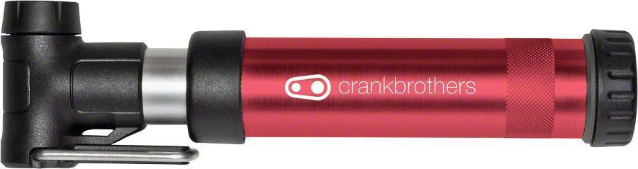 Crankbrothers Gem Short Air Pump-Bicycle Pumps-CrankBrothers-Red-Voltaire Cycles of Verona