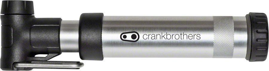 Crankbrothers Gem Short Air Pump-Bicycle Pumps-CrankBrothers-Silver-Voltaire Cycles of Verona