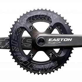 Easton Cinch 2x 34/50t Chainring 11sp Bcd: 64/104 Aluminum Black-Chainrings-Easton Cycling-Voltaire Cycles of Verona