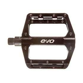 Evo Hightail Platform Pedals Body: Aluminum Spindle: Cr-Mo 9/16 Black Pair-Pedals-EVO-Voltaire Cycles of Verona