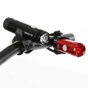 Evo Nitebright 110/25 Light Set Black/Red-Lights-EVO-Voltaire Cycles of Verona