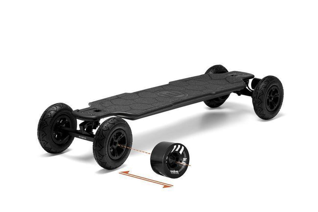 Evolve Carbon GTR 2in1 Skateboard-Electric Skateboard-EVOLVE-Evolve GTR 97mm 76a Black Wheels-Voltaire Cycles of Verona