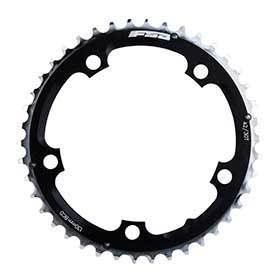 Fsa Pro Road Triple 42t 9sp Bcd: 130mm 5 Bolt Pro Road Middle Chainring For Shimano 9 Campagnolo 10 Aluminum Black-Chainrings-FSA-Voltaire Cycles of Verona