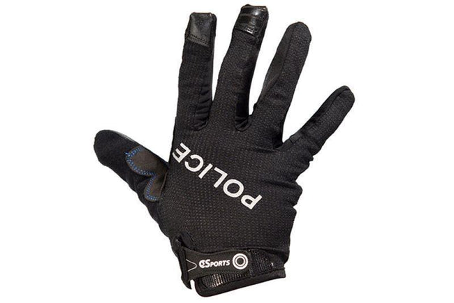 Full Finger Gloves with Police Logos-Police Accessories-C3Sports-Voltaire Cycles of Verona