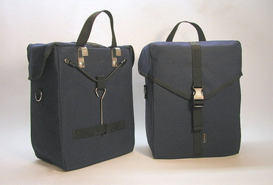 Ironweed Alyce Canvas Bicycle Pannier - Handmade-Bicycle Panniers-Ironweed Bike Products-Blue-Voltaire Cycles of Verona