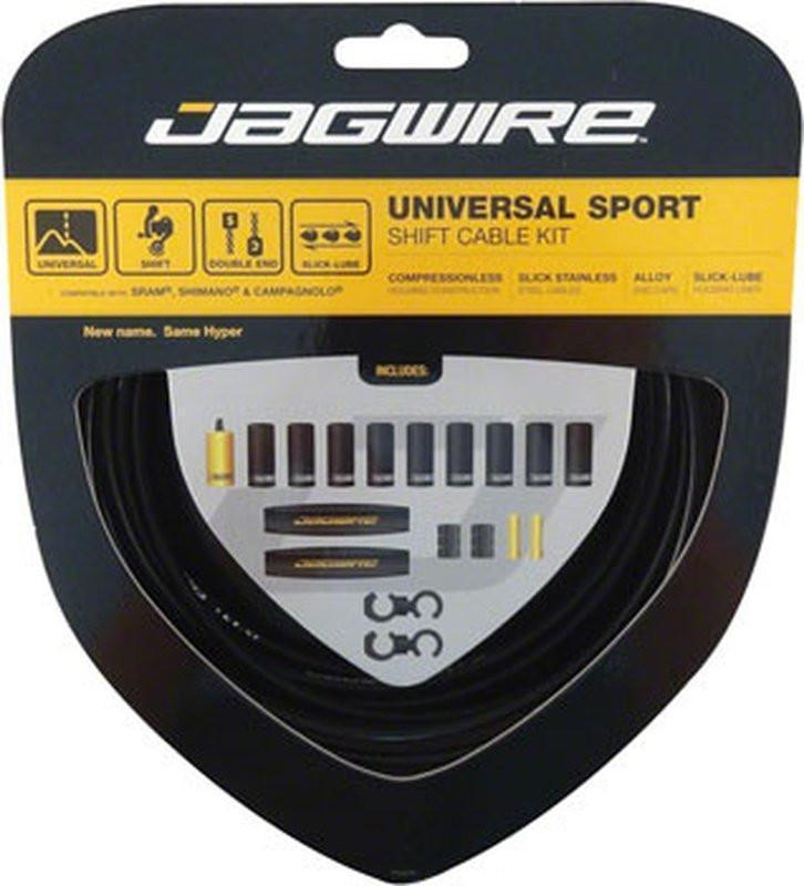 Jagwire Universal Sport Shift Cable Kit, Black-Bicycle Derailleur Components-Jagwire-Voltaire Cycles of Verona