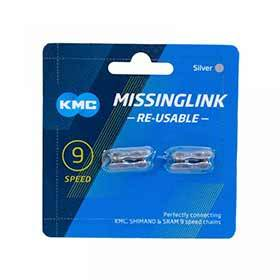 Kmc Missinglink 9spd 2-Piece Card Pair-Chains-KMC-Voltaire Cycles of Verona