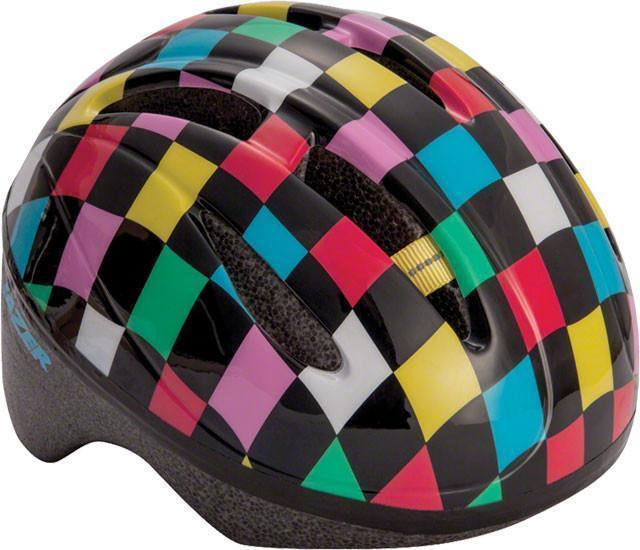 Lazer BOB Infant Helmet: Black with Multi-Color Squares, One Size-Helmets-Lazer-Voltaire Cycles of Verona