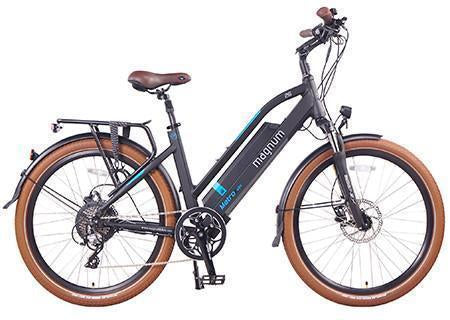 Magnum Metro Electric Bike City Cruiser-Electric Bicycle-Magnum-Matte Black-Voltaire Cycles of Verona