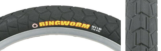 "Maxxis Ringworm Tire, Rigid, 20"" X 1.95"" inch 110psi - 710g-Bicycle Tires-Maxxis-Voltaire Cycles of Verona"