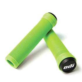 Odi Soft Longneck (Flangeless) Grips 135mm Green-Grips and Handlebar Tape-ODI-Voltaire Cycles of Verona