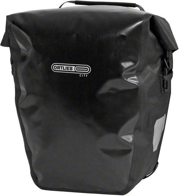 Ortlieb Back-Roller City: Pair Bicycle Panniers-Bicycle Panniers-Ortlieb-Black-Rear Pannier-Voltaire Cycles of Verona