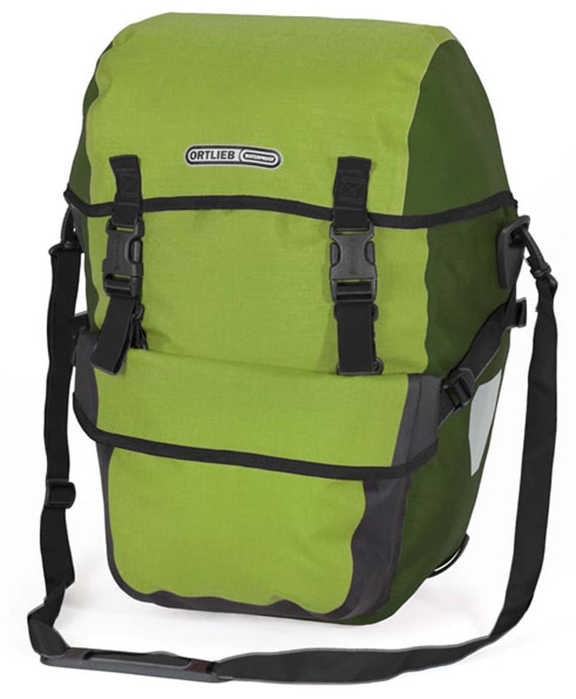 Ortlieb Bike-Packer Plus (Pair) - Bicycle Panniers-Bicycle Panniers-Ortlieb-Lime-Moss-Voltaire Cycles of Verona