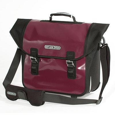 Ortlieb Downtown QL3.1 Bicycle Bag - Panniers-Bicycle Panniers-Ortlieb-Aubergine-Black-Voltaire Cycles of Verona