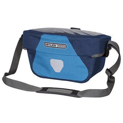 Ortlieb Ultimate6 Plus Bicycle Handlebar Bag-Bicycle Handlebar Bags-Ortlieb-5L Denim-Steelblue-Voltaire Cycles of Verona