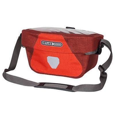 Ortlieb Ultimate6 Plus Bicycle Handlebar Bag-Bicycle Handlebar Bags-Ortlieb-5L Signal Red-Chili-Voltaire Cycles of Verona