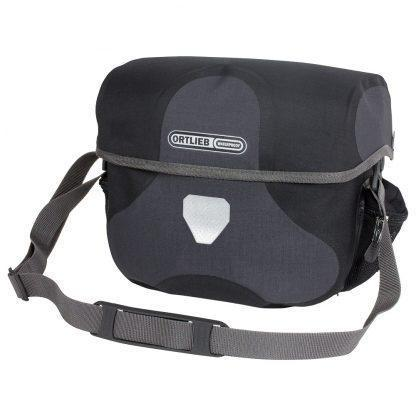 Ortlieb Ultimate6 Plus Bicycle Handlebar Bag-Bicycle Handlebar Bags-Ortlieb-7L Granite-Black-Voltaire Cycles of Verona