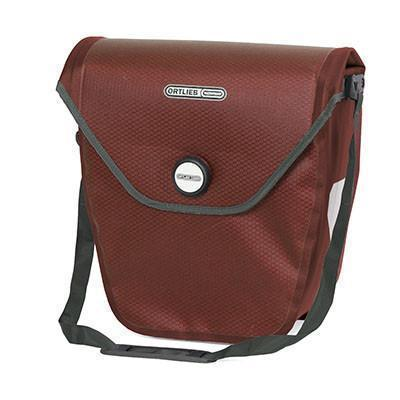 Ortlieb Velo-Shopper Bicycle Pannier-Bicycle Panniers-Ortlieb-Dark Chili-Grey-Voltaire Cycles of Verona