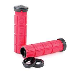 Oury Grips Lock-On Grips 127mm Red Pair-Grips and Handlebar Tape-Oury Grips-Voltaire Cycles of Verona