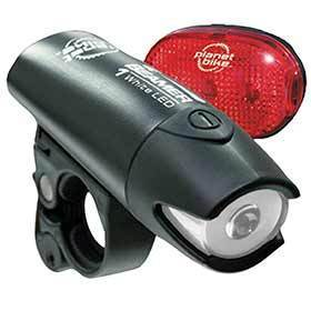 Planet Bike Beamer 1 Led & Blinky 3 Set Blinky 3 New Red Led 300% Brighter-Lights-Planet Bike-Voltaire Cycles of Verona