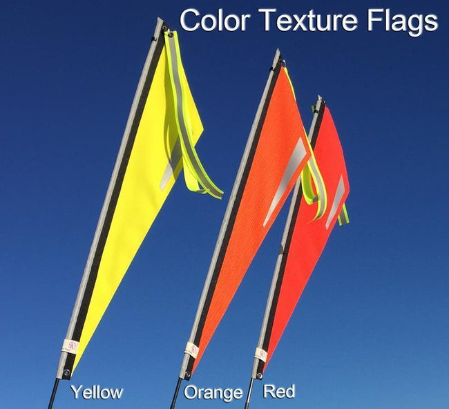 Purple Sky Texture Flag for Recumbent or Electric Bicycle-Bicycle Flags-TerraCycle-Yellow-6mm-Voltaire Cycles of Verona