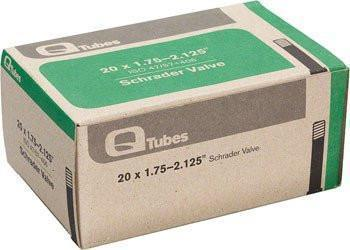 "Q-Tubes 20"" x 1.75-2.125"" Schrader Valve Tube 130g *Low Lead Valve*-Bicycle Tube-Qtubes-Voltaire Cycles of Verona"